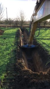 Cutting a new ditch K W Timmins Lincolnshire