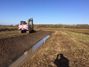 Ditching water main K W Timmins Lincolnshire
