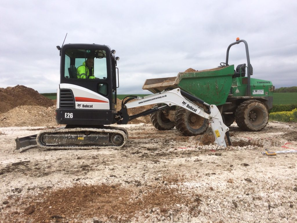 Excavator dumper K W Timmins Lincolnshire