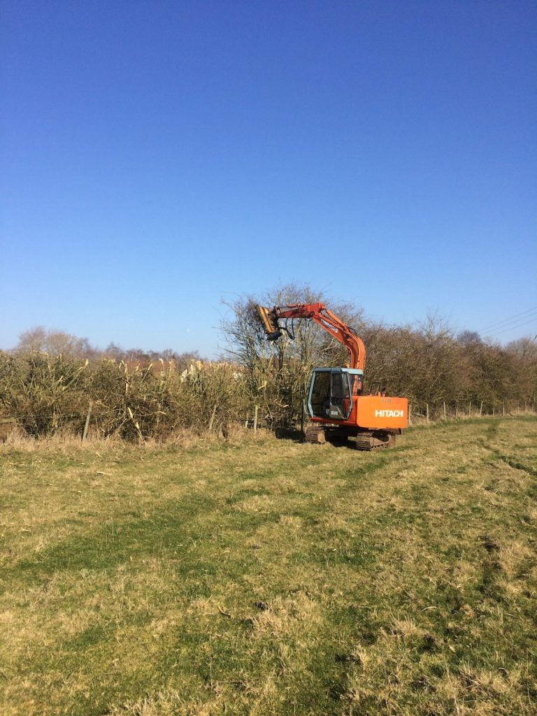 Excavator flail K W Timmins Lincolnshire