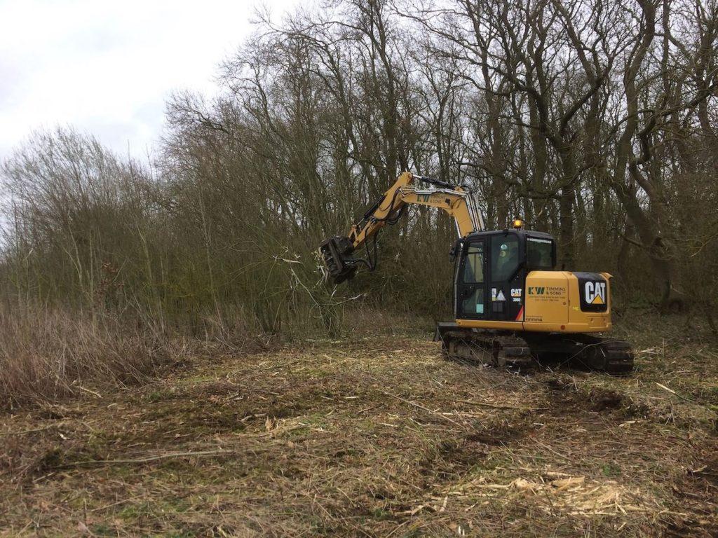 Excavator Forestry Mulcher K W Timmins Lincolnshire