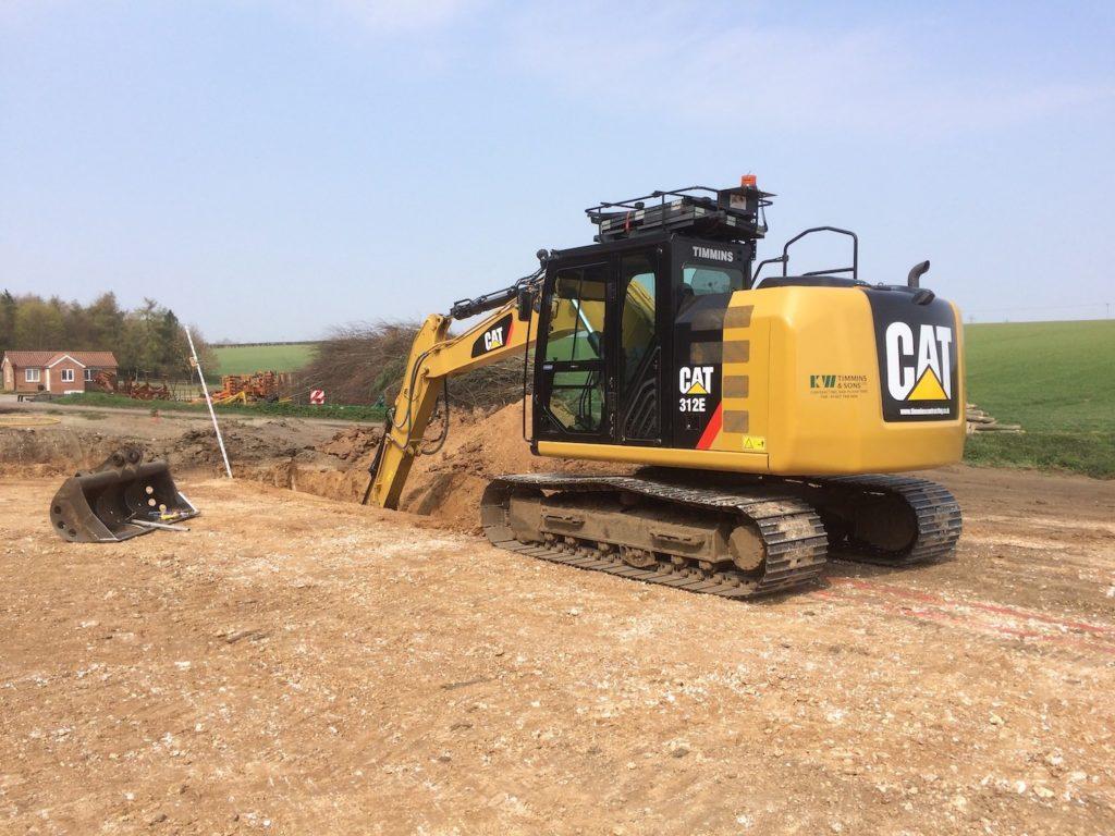 Excavator K W Timmins Lincolnshire