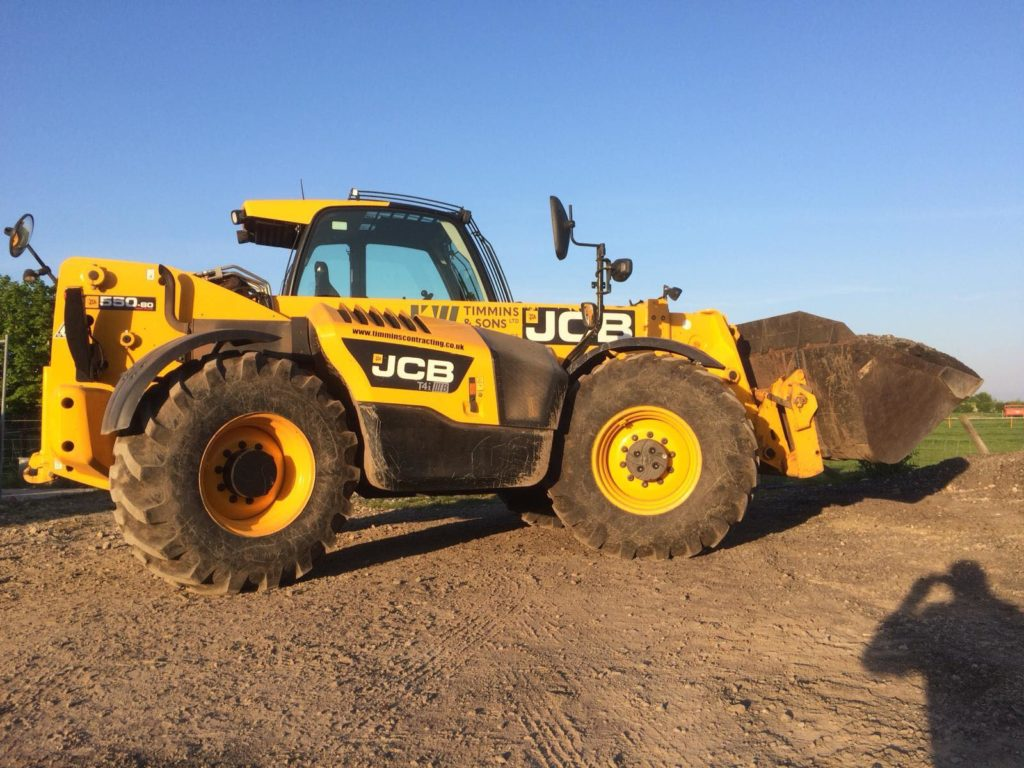 JCB plant machine hire K W Timmins & Sons ltd Lincoln