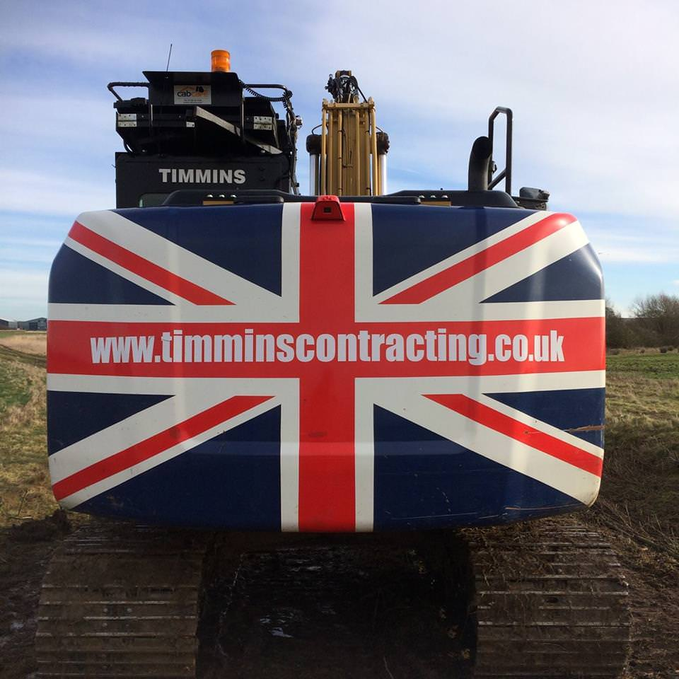 K W Timmins contracting best of British plant machinery hire Lincoln