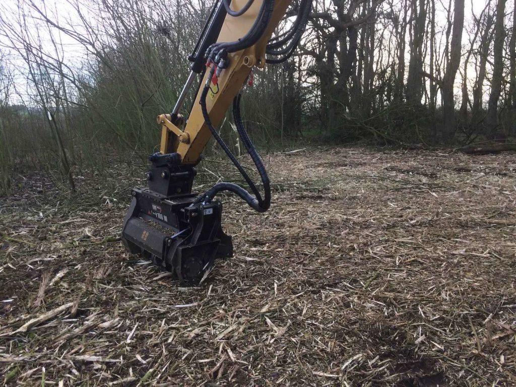 Excavator mulcher K W Timmins Lincolnshire