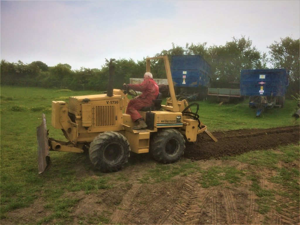 Trenching Vermeer 5750 K W Timmins Lincolnshire